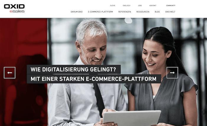 OXID eShop Startseite
