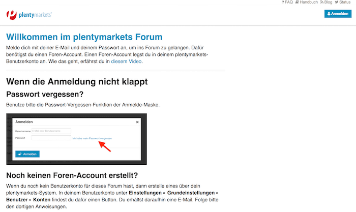 plentymarkets Supportforum