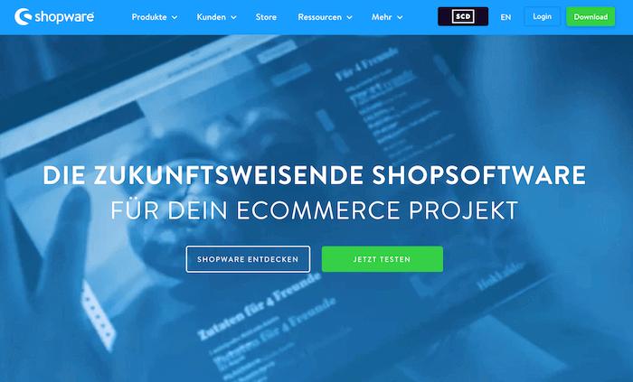 Shopware Startseite