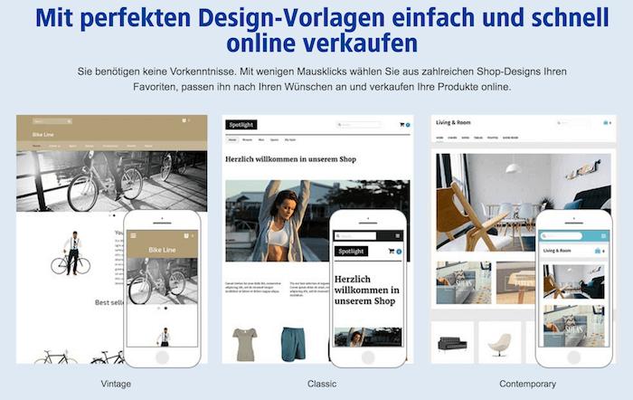 1und1 Designvorlagen