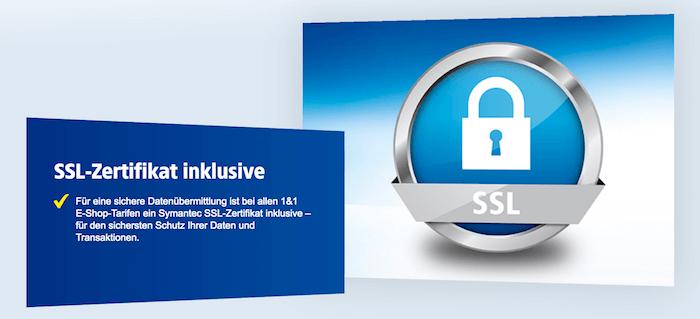 1&1 SSL-Zertifikat