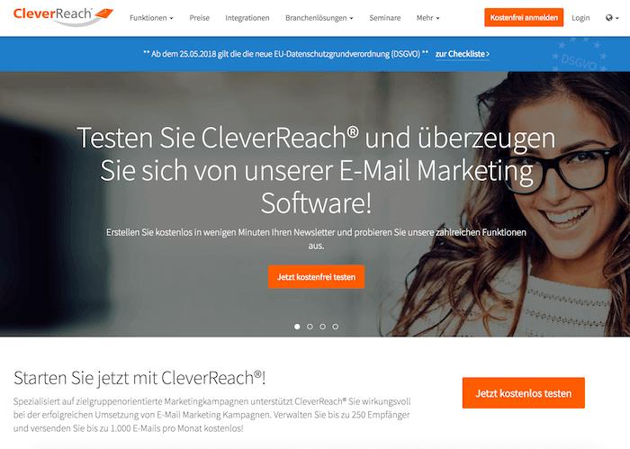 CleverReach Startseite