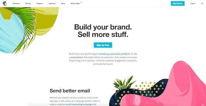 MailChimp Startseite