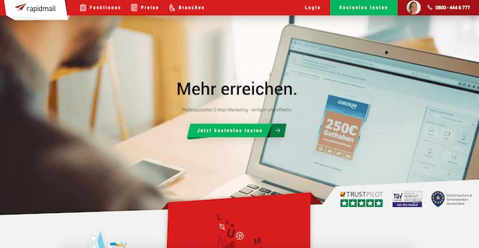 rapidmail Startseite