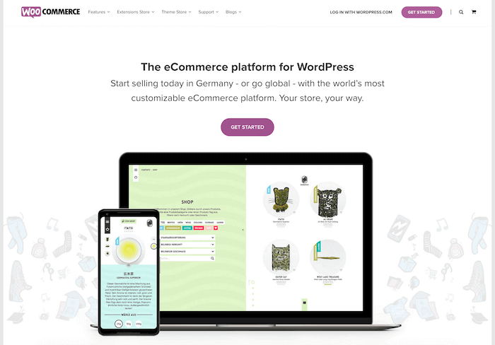 Woocommerce Startseite