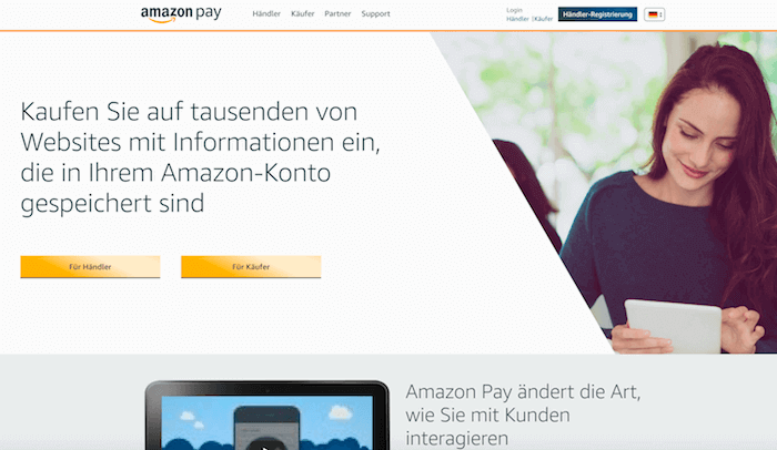 amazon pay Startseite