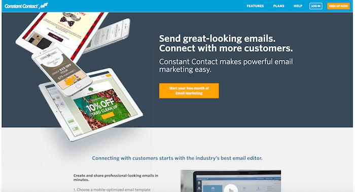 Constant Contact Startseite