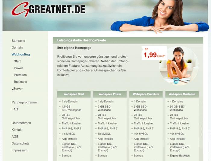 Greatnet Startseite