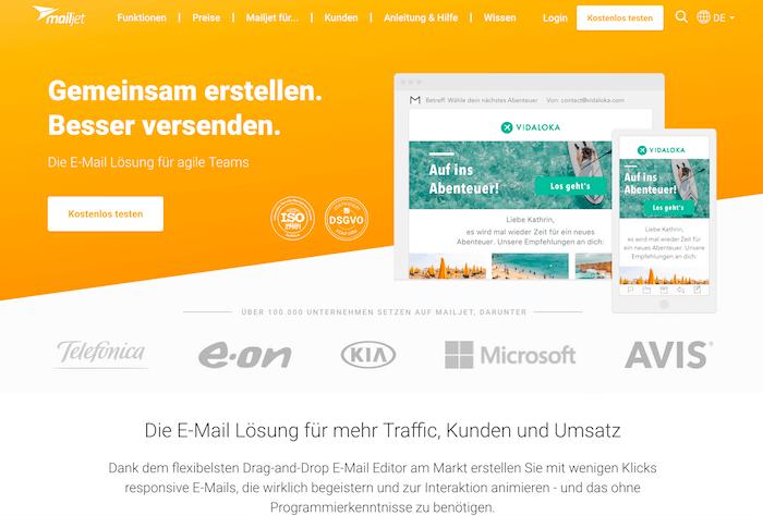 Mailjet Startseite