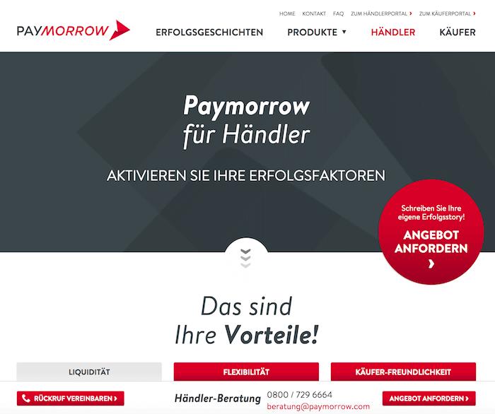 Paymorrow Startseite