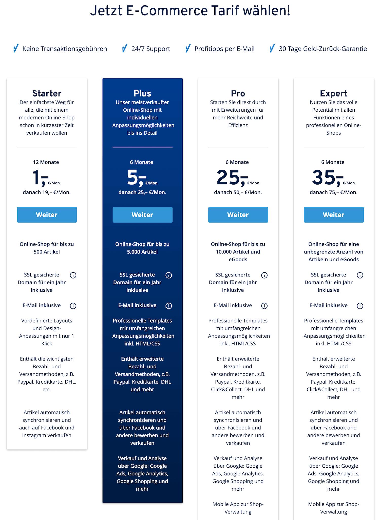 IONOS 1&1 Preise